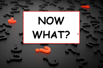 Now What? image with field of question marks