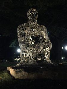 Sculpture by Jaume Plensa - Multilingual Symbols
