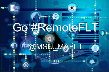Go Remote FLT with hashtag and tech tools background